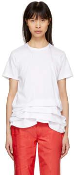 Comme des Garcons White Ruffled T-Shirt