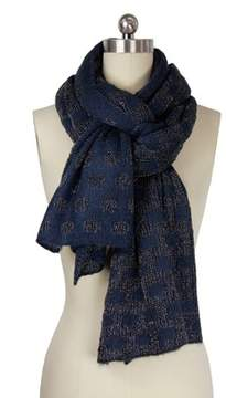 Saachi Navy Metallic Dot Scarf.