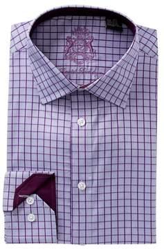 English Laundry Plaid Trim Fit Dress Shirt