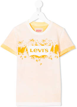 Levi's Kids palm logo print T-shirt
