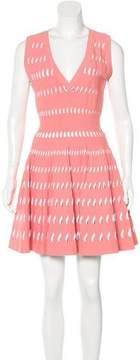 Alaia Perforated Fit and Flare Dress