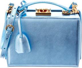 Mark Cross Grace Small Metallic Saffiano Leather Box Bag