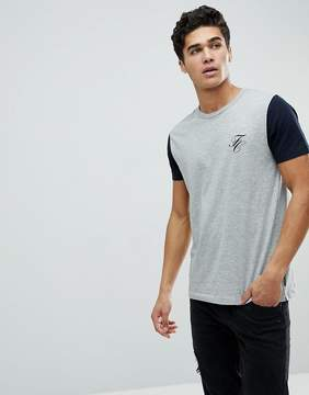 French Connection Contrast Sleeve Script T-Shirt