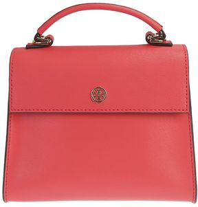 Tory Burch Leather Parker Satchel Small Bag - PINK - STYLE