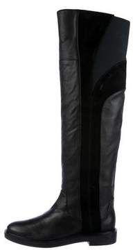 Calvin Klein Collection Leather Over-The-Knee Boots