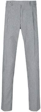 Berwich striped straight leg trousers