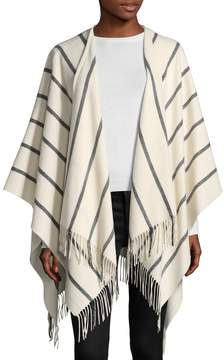 Saks Fifth Avenue Women's Chalk Stripe Cape