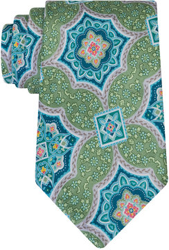 Geoffrey Beene Men's Medallion Culture Tie