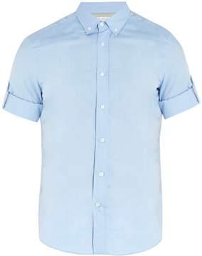 Brunello Cucinelli Point-collar short-sleeved cotton shirt