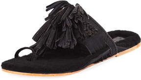 Figue Scaramouche Mixed-Fur Slide Sandal