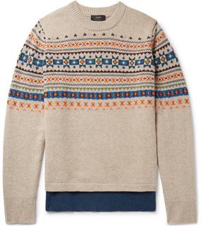 Joseph Fair Isle Wool Sweater