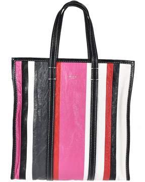 Balenciaga Bazar Medium Striped Shopper Bag