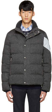 Moncler Gamme Bleu Grey Quilted Down Jacket