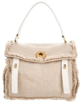 Saint Laurent Leather-Trimmed Muse Two Bag - NEUTRALS - STYLE