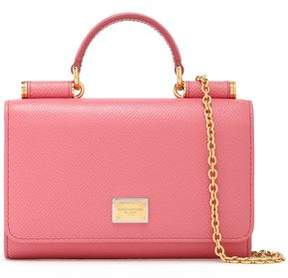 Dolce & Gabbana Embellished Textured-Leather Phone Case
