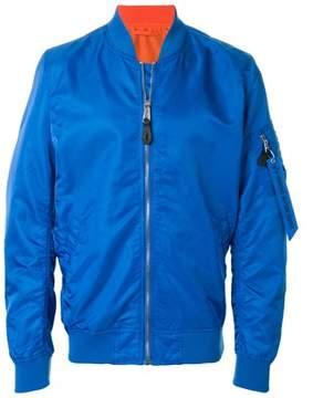Alpha Industries Men's Blue Polyamide Outerwear Jacket.