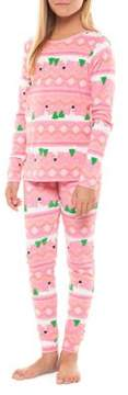 Dex Girl's Two-Piece Snowman Pajama Top and Pants Set