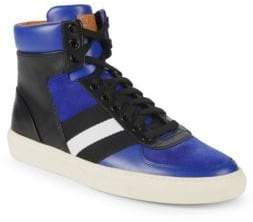 Bally Hewie Leather High-Top Sneakers