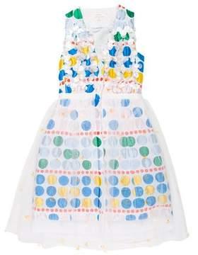 DELPOZO 2016 Embellished A-Line Dress