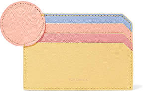 Roksanda Textured-leather Cardholder - Pastel yellow