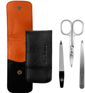 Pfeilring Manicure Set - Black/Orange by 3pcs Set)