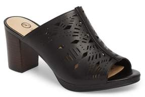 Bella Vita Lark Laser Perforated Slide Sandal