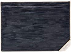 Bally Bhar Leather Card Case, Blue