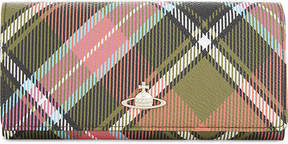 Vivienne Westwood Derby checked grained leather wallet