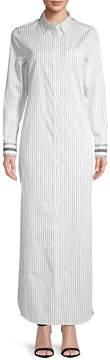 Equipment Women's Brett Striped Cotton Maxi Dress