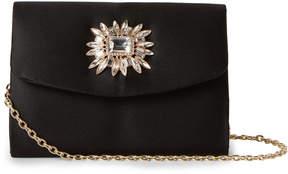 La Regale Black Jewel Convertible Flap Clutch