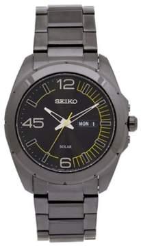 Seiko Men's Solar Watch Japanese Quartz Hardlex Crystal SNE287