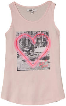 DKNY Girls' I Heart The Beach Tank