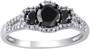 Black Diamond MODERN BRIDE Midnight 1 CT. T.W. White & Color-Enhanced 10K White Gold Engagement Ring