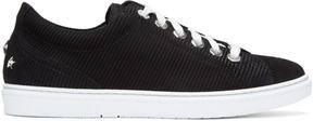 Jimmy Choo Black Suede Cash Sneakers