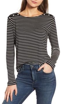 Amour Vert Women's Liana Button Shoulder Tee