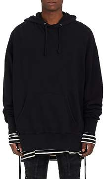 Faith Connexion Men's Laced-Side Oversized Cotton Hoodie