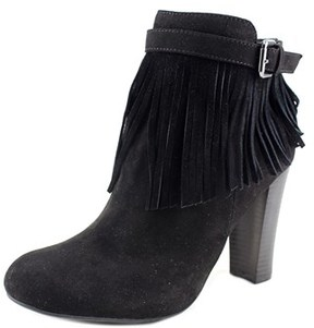 Material Girl Persia Women Round Toe Synthetic Black Ankle Boot.