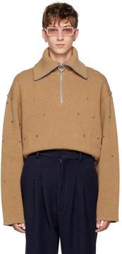 Acne Studios Orange Nicolai Floral Sweater