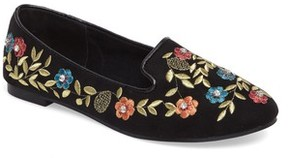 Topshop Women's Sweetie Embroidered Loafer