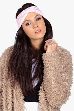 boohoo Olivia Jersey Twist Knot Turban Headband