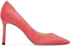 Jimmy Choo Pink Suede Romy 85 Heels