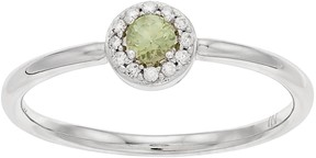 Lauren Conrad 10k White Gold Green Sapphire & Diamond Accent Halo Ring