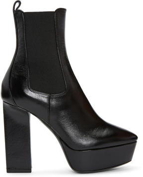 Saint Laurent Black Vika Chelsea Boots