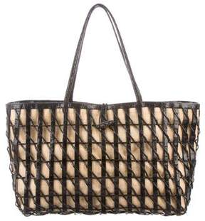 Nancy Gonzalez Woven Leather Basket Bag