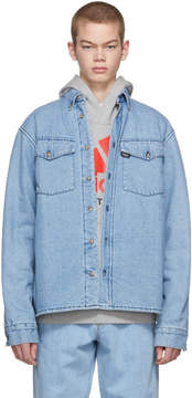 Gosha Rubchinskiy Blue Faux-Fur Denim Shirt