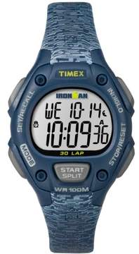 Timex Women's Ironman Classic 30 Mid-Size Blue/Gray Watch, Resin Strap