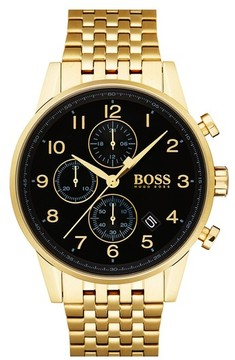 BOSS Men's Navigator Chronograph Bracelet Watch, 44Mm