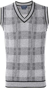 Ballantyne checked sweater vest