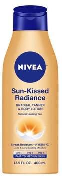 Nivea Sun-Kissed Radiance Gradual Tanner & Body Lotion Fair to Medium Skin - 13.5 oz