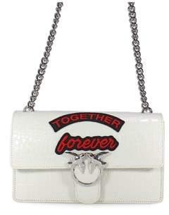 Pinko Women's White Leather Shoulder Bag.